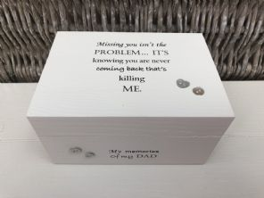 Personalised In Memory Of Box Loved One ~ DAD ~ FATHER any Name Bereavement Loss - 232738845529